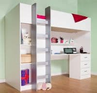 High Sleeper Cabin bed  with  Colour options ideal childrens safe  bed with wardrobe and desk  Cambridge